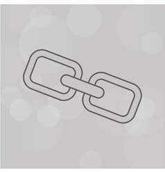 Chain link design vector
