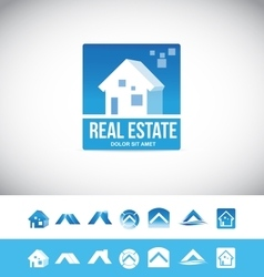Real estate house logo 3d icon vector