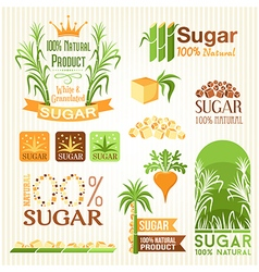 Sugar labels emblems and icons for design vector