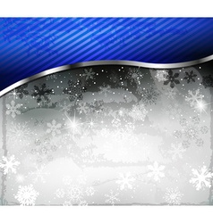 Dark Sparkling Christmas Background vector image