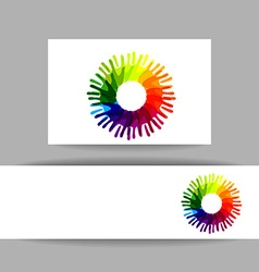 friends hands sign template vector image