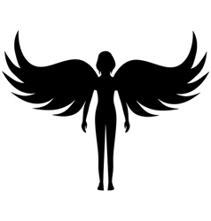 angel silhouette vector image