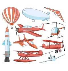 Aviation icons set vector