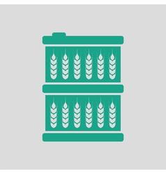 Barrel wheat symbols icon vector image vector image