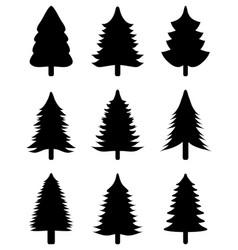 black christmas trees vector image vector image