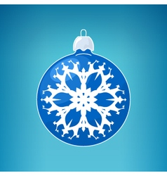 Blue ball with snowflake vector