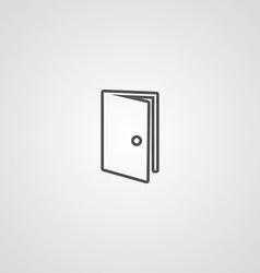Door outline symbol dark on white background logo vector