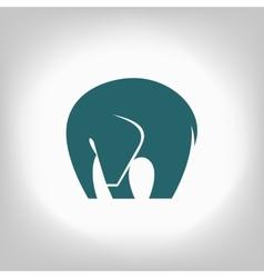 Emblem of an elephant on a light background vector