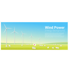 energy concept background with wind turbine 26 vector image vector image