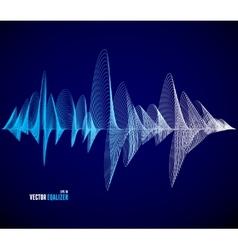 Equalizer musical bar dark background vector