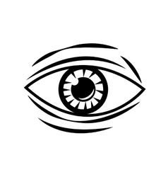 Eye tattoo art design vector