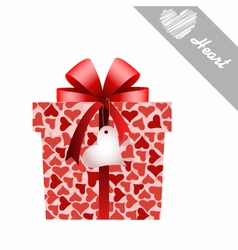 gift and hearts vector image