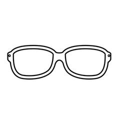 glasses optical lens vector image