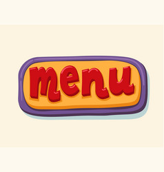 Hand drawn menu web button internet button vector