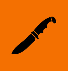 Hunting knife icon vector