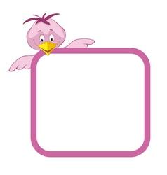 label frame - funny birds vector image vector image