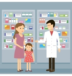 Pharmacist woman kid vector