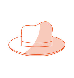 Red silhouette shading image cartoon elegant hat vector