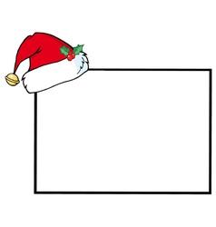 Santas Hat A Blank Sign vector image vector image