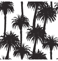 Seamless pattern with palm trees in vector image vector image