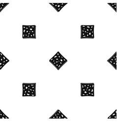 Tofu fresh block pattern seamless black vector