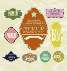 Vintage label for retro banners EPS 10 vector image