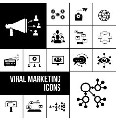 Viral marketing icons black vector image