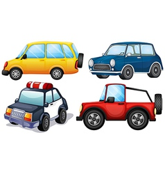 Four different cars vector