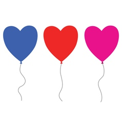 Heart balloons vector