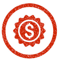 banking stamp rounded grainy icon vector image