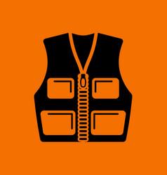 Hunter vest icon vector