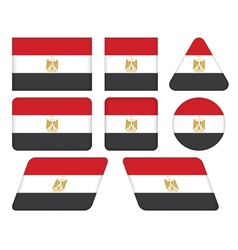 Buttons with flag of egypt vector