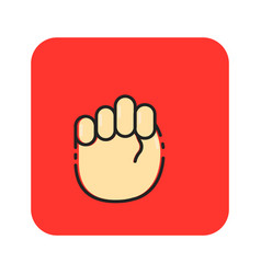 Flat color hands sign icon vector