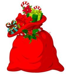 Santa s sack vector image
