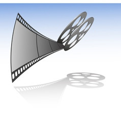 vector film strip with reel vector image