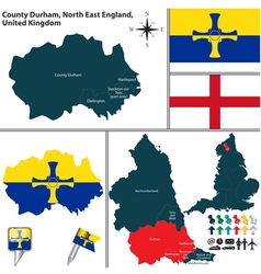 County durham north east england vector
