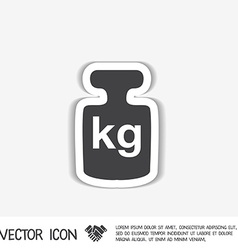 Weight icon symbol denoting a measure of weight vector