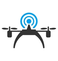 Radio source drone icon vector