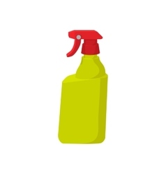 Plastic hand spray bottle cartoon icon vector