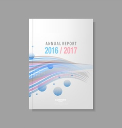 Annual report design template vector