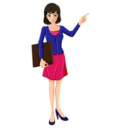 A businesswoman with a blue blazer vector image vector image