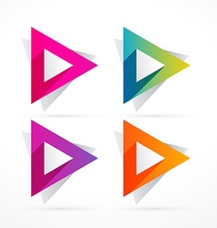 abstract colorful triangle shape design vector image vector image