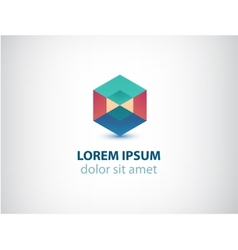 Abstract geometric colorful crystal logo vector