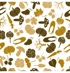 autumn icons color pattern eps10 vector image