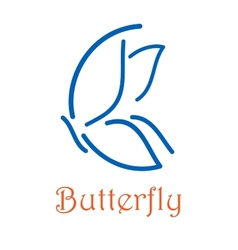 Butterfly icon or logo emblem vector image vector image