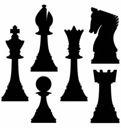 chess set vector image vector image
