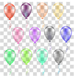 Collection of color balloons vector