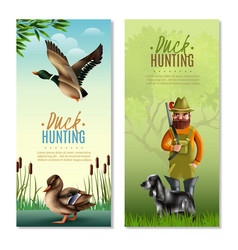duck hunting vertical banners vector image