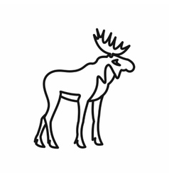 Elk icon in outline style vector