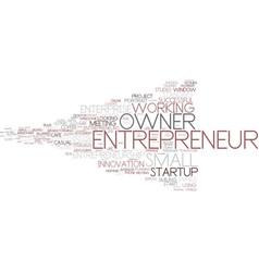Entrepreneur word cloud concept vector